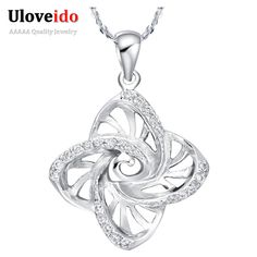 Find More Pendant Necklaces Information about Flower Crystal Necklace Female Rhinestones Women Fashion Accessories Sterling Silver Chain Gargantillas Elegantes Uloveido N614,High Quality accessories funny,China accessories crystal Suppliers, Cheap accessories village from Uloveido Official Store on Aliexpress.com