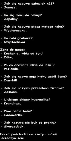 Trendy w kategoriach humor w tym tygodniu - Poczta Wtf Funny, Funny Jokes, Weekend Humor, Friday Humor, Polish Memes, Funny Mems, Sarcastic Quotes, Just Smile, Man Humor
