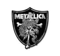 Metallica Raiders Skull Cut Out Patch