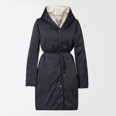 "Reversible padded goose feather jacket, ultramarine - ""CARNET"" Weekend Max Mara"