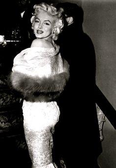 """ Marilyn Monroe at the premier of East of Eden, 1955. """