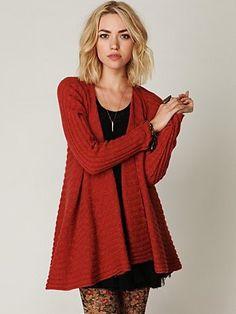 crimson swing sweater
