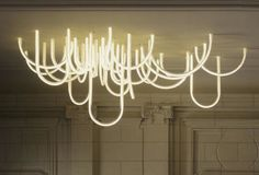 green design, eco design, sustainable design, Mathieu Lehanneur, Les Cordes, LED chandelier, Chateau Borely, Musee des Arts Decoratifs, de la Faience et de la mode, energy efficient lighting, modern chandelier