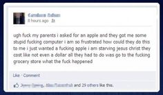 So... freakin... hilarious. I just an apple... a REAL apple!!
