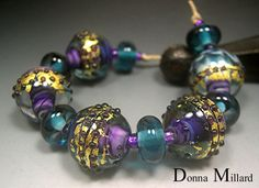 DUSK - handmade glass beads by me.  In my etsy, click me!