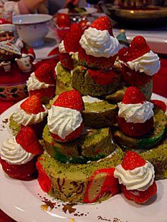 サンタクロースツリーケーキ