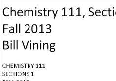 Chem 111 - AP Chem Resources