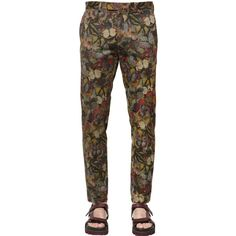 7cbdf44a690b Valentino Men 18cm Butterfly Printed Cotton Pants featuring polyvore