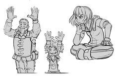 Bocetos de Elias, Tervin y Natan #ConceptArt #Ilustraciones #Bocetos #animación #thelastflightofthewind #elultimovuelodelviento