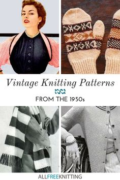 Vintage Patterns, Knitting Patterns, Retro Look, Vintage Knitting, Yarn Crafts, Retro Fashion, 1950s, Crochet Hats, Collections
