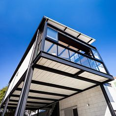 House Roof Design, Home Stairs Design, Container House Design, Steel Frame House, Steel House, Steel Building Homes, Building A House, Steel Structure Buildings, Shelter Design