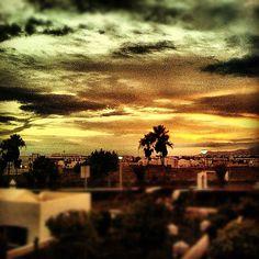 "@ilaria_agostini's photo: ""Sunset in Lanzarote, spain"""