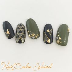 Show Your Creativity With Hand Painted Nail Art Designs Beautiful Nail Art, Gorgeous Nails, Kaki Nails, Asian Nails, Asian Nail Art, Japan Nail, Japanese Nail Art, Painted Nail Art, Geometric Nail