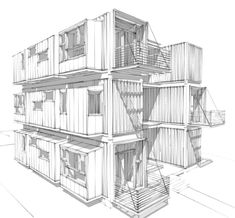container housing sketch