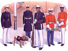 PlateVIII Blue White and Drum Corps - Uniforms of the United States Marine Corps - Wikipedia, the free encyclopedia Marine Corps Symbol, Us Marine Corps, Military Girlfriend, Military Love, Military Spouse, Us Navy, Marine Corps Uniforms, Military Uniforms, Usmc Dress Blues