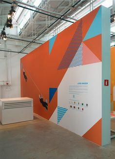"""Linhas de Histórias"""" is a exhibition with a signage and printed pieces created by the Brazilian studio Campo."""