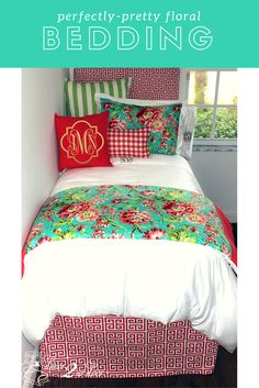 Coral and Teal Floral Bouquet Dorm Room Bedding. We adore the mixture of teal and coral with fun and floral prints! Decorate a dorm room. Dorm room bedding and décor. Dorm room decor trends. College dorm room bedding sets. College dorm room bedding sets. Design your own dorm room bedding. College dorm bedding ideas. Dorm bedding and accessories. Decor 2 Ur door bedding. Decorating a dorm room ideas.