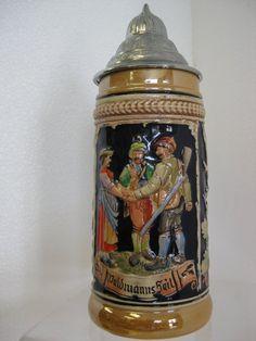 Your place to buy and sell all things handmade German Beer Mug, German Beer Steins, Primitive Folk Art, Beer Mugs, Hidden Treasures, Arts And Crafts Movement, Coffee Shop, Wine Cellar, Vintage