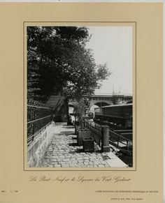 Le Pont-Neuf et le square du Vert-Galant (vers 1900) Eugène Atget. Tirage argentique de la caisse nationale des monuments historiques et des sites en 1982.