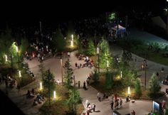 MVVA's forest-inspired waterfront park features Structura. Landscape Lighting Design, Shop Interior Design, Urban Planning, Landscape Architecture, Screen Shot, Outdoor Lighting, Exterior, Light Design, Alicante