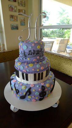 Music themed birthday cake.