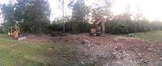 Clearing our lot. 5/14/14