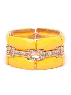 sparkly yellow cuff