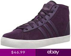 sports shoes 47b61 554e0 Adidas NEO Cloudfoam Daily QT Mid Womens Shoes Purple High Top B74253 NEW