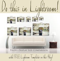 Lightroom Templates - Get this free template and other Canvas compares like it at this blog...plus over 150 more templates to make collages, Facebook Timelines and more!