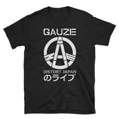 Gauze Distort Japan Short-Sleeve Unisex T-Shirt Japanese Hardcore Punk Noise Zyanose Grindcore Crust Punk Underground Cult Metal Dead Can Dance, Minor Threat, Crust Punk, Acid House, Unisex, Shoulder Taping, Mens Tops, T Shirt