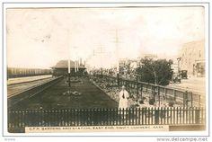 RP, C. P. Railroad Gardens & Train Station, East End, Swift Current, Saskatchewan, Canada, 1920-1940s - Delcampe.com