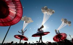 Artists perform during the Carnival parade in Nice, southern France