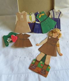 Vintage Girl Scout Paper Doll / Brownie Paper Doll
