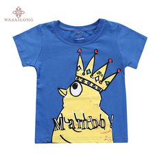 >> Click to Buy << Wasailong The chicken cotton children's short sleeve T-shirt boy and girl baby cotton short sleeve T #Affiliate