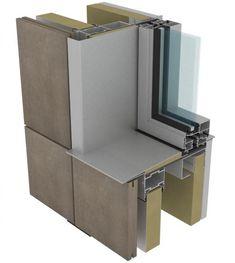 Curtain Wall Detail, Window Detail, Cladding Design, Window Replacement, Id Design, Windows And Doors, Filing Cabinet, Ramen, Construction