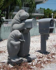 Cassetta della posta a forma di foca