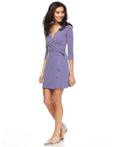 Let's take an inside peek at a DVF wrap dress, shall we? I went to Century 21 on my lunch hour and snapped some photos of a DVF wrap dress that was on sale there and is the same asthe wrap dress p...