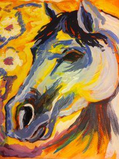 Acrylic painting Welsh Mountain pony