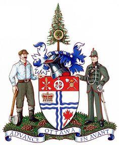 Ottawa, Capital of Canada, Population: 898150 Ottawa Tourism, Kids Castle, Capital Of Canada, City Logo, Canadian History, Family Crest, Crests, Coat Of Arms, Ottawa Canada