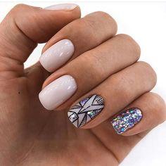 43 Pretty Nail Art Designs for Short Acrylic Nails Sparkly Short Acrylic Nails Short Nail Designs, Cool Nail Designs, Acrylic Nail Designs, Acrylic Nails, Nail Design For Short Nails, Acrylic Art, Trendy Nails, Cute Nails, My Nails