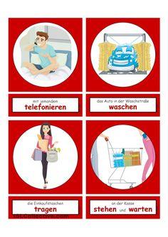 Tätigkeiten im Haushalt & Alltag 5 _ Flashcards klein