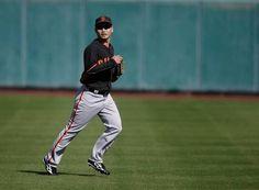 San Francisco Giants' Nori Aoki (23) runs during spring training baseball practice Tuesday, Feb. 24, 2015, in Scottsdale, Ariz.