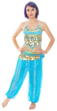 Genie Belly Dancer / Bollywood Costume - TURQUOISE