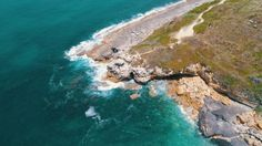 Aerial View Seashore with Waves by Discovod Aerial View Seascape with Waves on Rocky Beach, Portugal