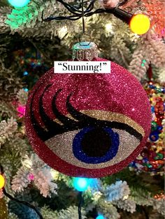 Drag Race Drag Queen Monique Hart inspired Christmas decoration Christmas Bulbs, Christmas Decorations, Holiday Decor, Drag Queens, Rupaul, Elf, Glitter, Inspired, Inspiration