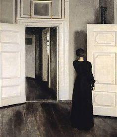 Hammershoi femme dans un intérieur