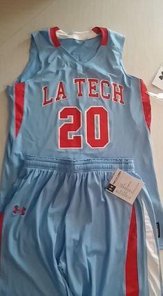 Louisiana Tech University Women's Basketball  LA Tech Uniform Large Under Armour #UnderArmour #LouisianaTechUniversity