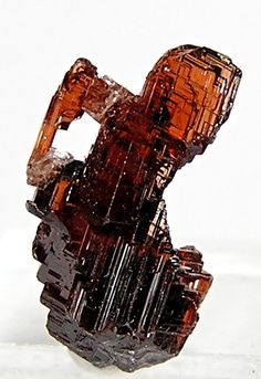 Red Spessartine Garnet Natural Etched Crystal 75 by FenderMinerals