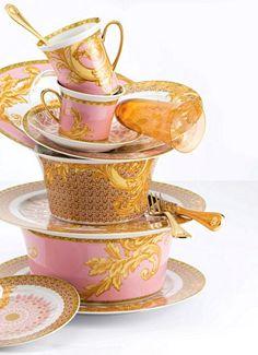 Pink & Gold Versace China