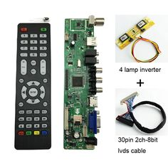 Cheap controller driver board, Buy Quality tv controller driver board directly from China driver board Suppliers: Universal LCD TV Controller Driver Board PC/VGA/HDMI/USB Interface 4 lamp lvds keypad 560284 Usb, Tv Lcd, Ali Express, Remote, Boards, Display, Stuff To Buy, Light Bulb Vase, Prague